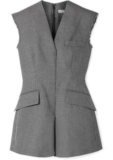 Stella McCartney Frayed Wool And Cotton-blend Vest