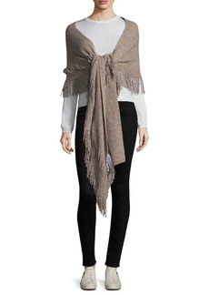 Stella McCartney Fringe Ribbed Scarf