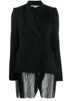 Stella McCartney fringed apliqué double-breasted blazer
