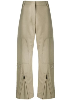 Stella McCartney front zip cropped trousers