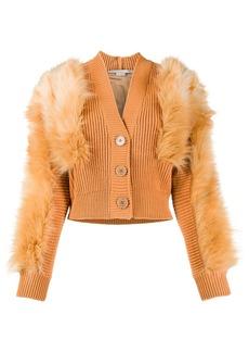 Stella McCartney Fur Free Fur-trim cardigan