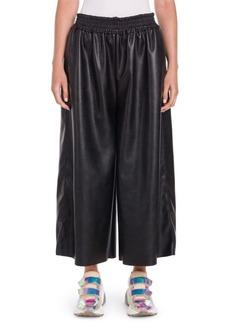 Stella McCartney Gathered Faux-Leather Culottes