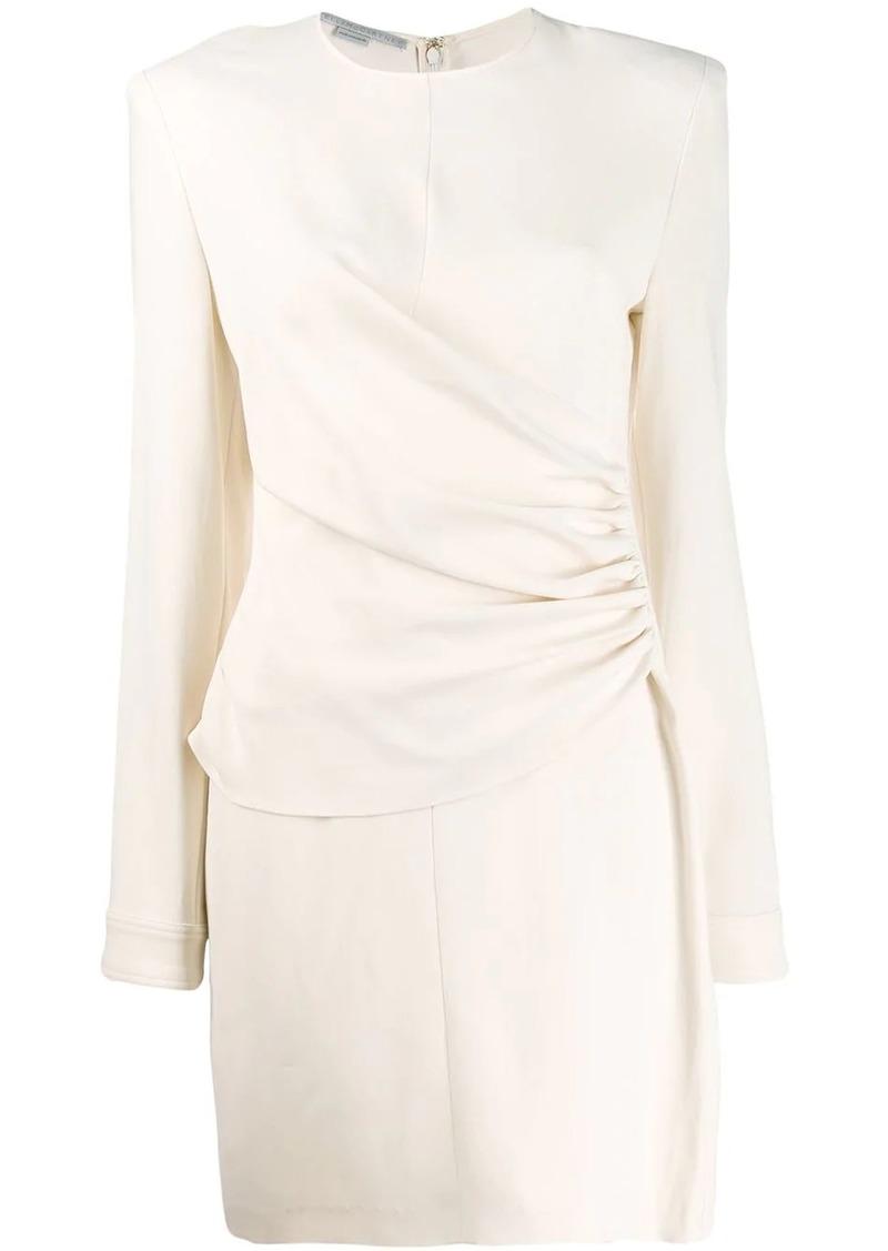 Stella McCartney gathered-panel fitted mini-dress
