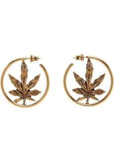 Stella McCartney Gold Leaf Loop Earrings