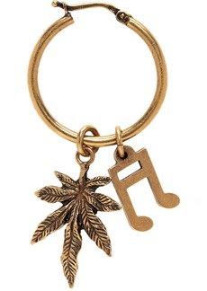 Stella McCartney Gold Note & Leaf Hoop Earring