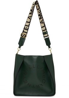 Stella McCartney Green Mini Logo Crossbody Bag