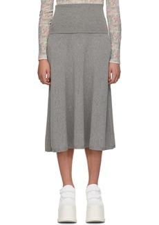 Stella McCartney Grey Wool Skirt