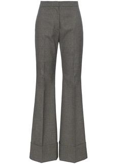 Stella McCartney high rise flared cotton wool-blend trousers