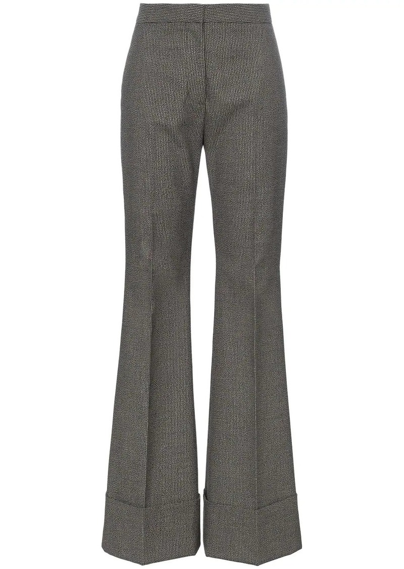 Stella McCartney high rise flared cotton wool-blend trousers