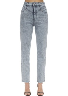 Stella McCartney High Waist Straight Cotton Denim Jeans