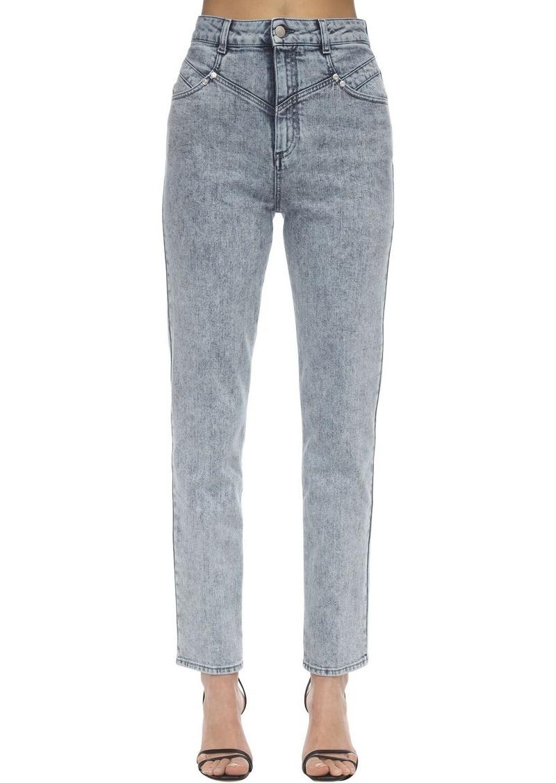 Stella McCartney High Waist Straight Cotton Denim Jeans