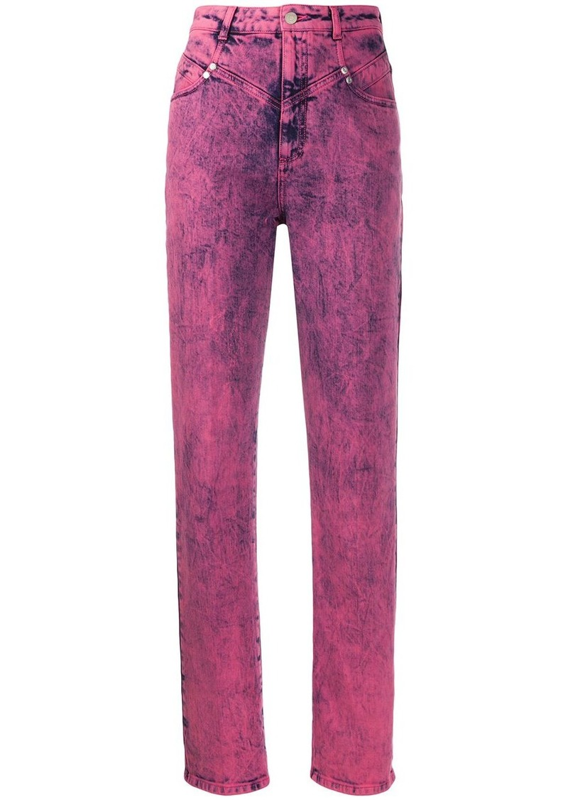 Stella McCartney high-waisted bleached effect jeans