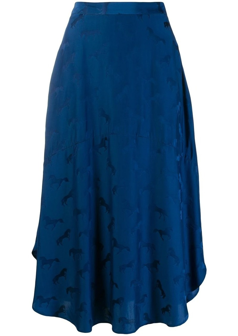 Stella McCartney horse embossed print skirt