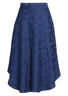Stella McCartney Horse-Print Silk-Blend Midi Skirt