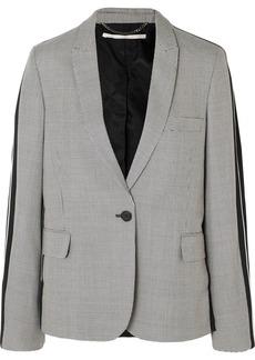 Stella McCartney Houndstooth Wool-tweed And Silk-twill Blazer