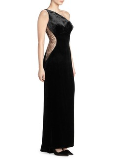 Stella McCartney Illusion Lace Velvet Gown