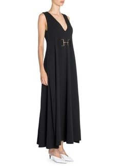 Stella McCartney Isabella Sleeveless Cady Maxi Dress