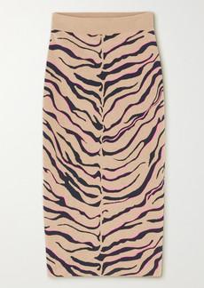 Stella McCartney Jacquard-knit Wool-blend Midi Skirt