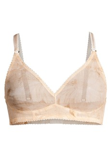 Stella McCartney Juliet Soft Cup Sheer Floral Triangle Bra