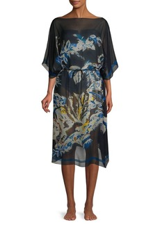 Stella McCartney Jungle-Print Cotton Caftan Cover-Up