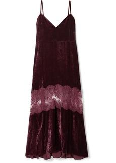 Stella McCartney Kelsey Lace-paneled Velvet Dress