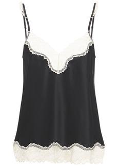 Stella McCartney Kitty  Silk Satin & Lace Camisole
