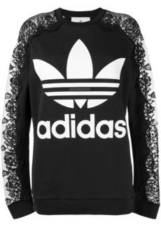 Adidas by Stella McCartney lace detail sweatshirt