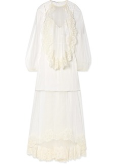 Stella McCartney Lace-trimmed Tulle Gown