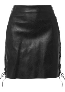 Stella McCartney Lace-up Faux Textured-leather Mini Skirt