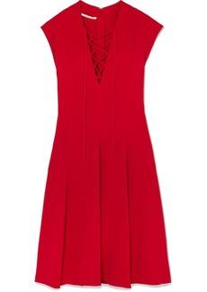 Stella McCartney Lace-up Stretch-cady Dress
