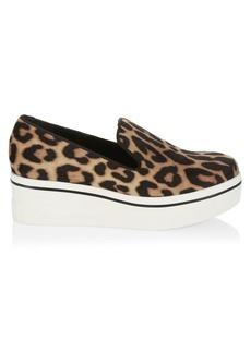 Stella McCartney Leopard-Print Platform Wedge Sneakers