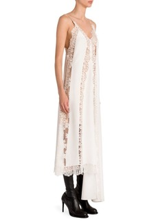 Stella McCartney Lingerie Asymmetric Silk Lace Slip Dress