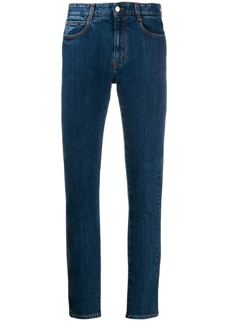 Stella McCartney logo embossed jeans
