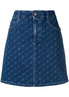 Stella McCartney logo print denim skirt