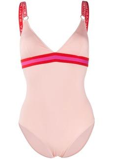 Stella McCartney logo-strap sporty swimsuit