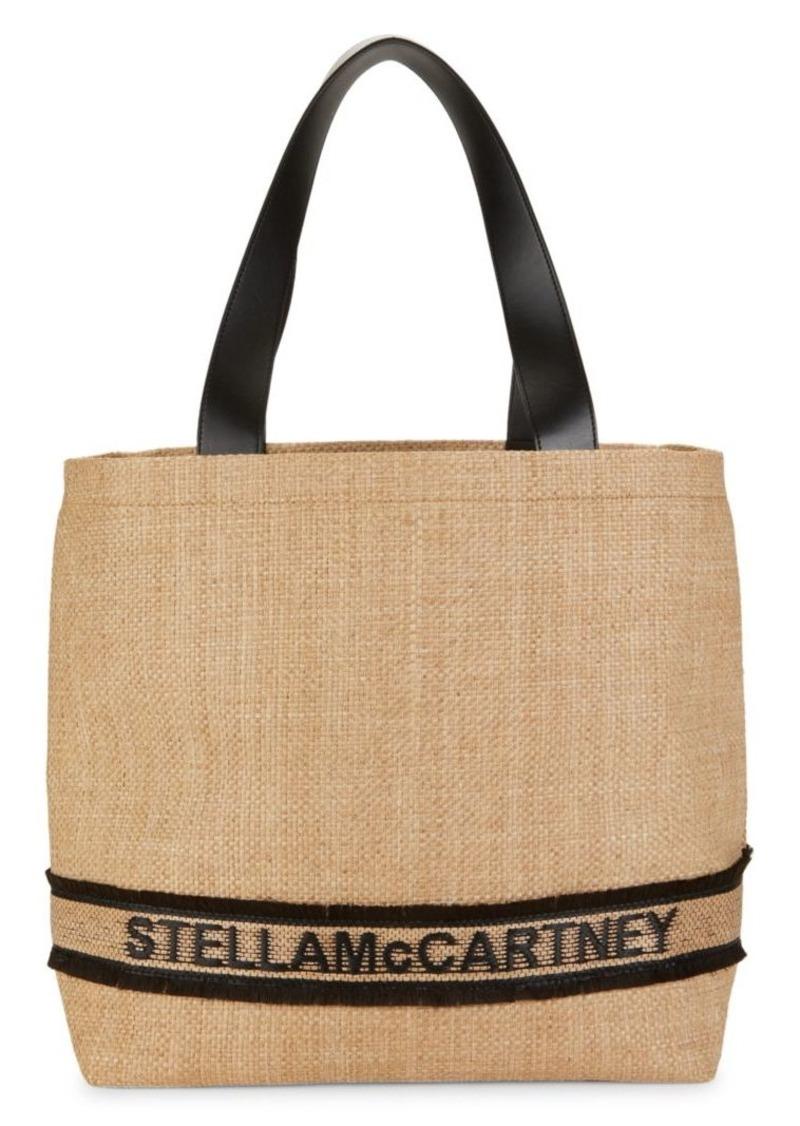 Stella McCartney Logo Straw Tote