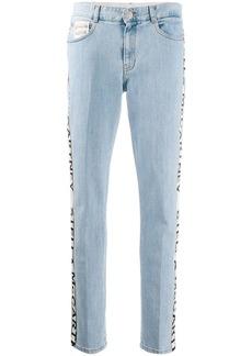 Stella McCartney logo stripe slim jeans