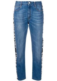 Stella McCartney logo tape jeans