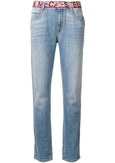 Stella McCartney logo waistband boyfriend jeans