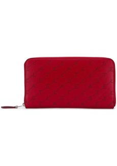 Stella McCartney logo zip-around wallet