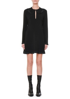 Stella McCartney Long-Sleeve Pleated-Ruffle Mini Dress