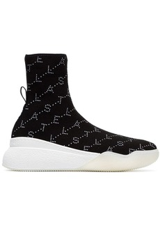Stella McCartney loop logo embellished sock sneakers