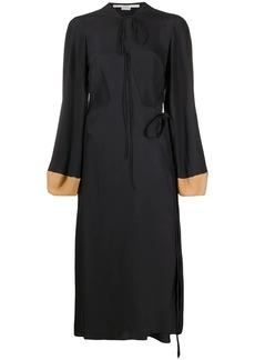 Stella McCartney balloon-sleeve silk midi-dress