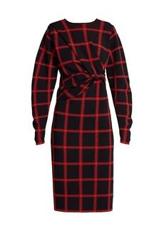 Stella McCartney Lumberjack-Check Knit Dress