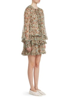 Stella McCartney Meadow Floral Silk Dress