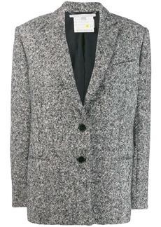 Stella McCartney melange knit wool blazer