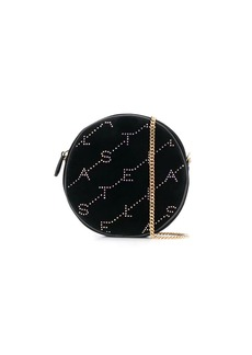 Stella McCartney mini round velvet monogram bag