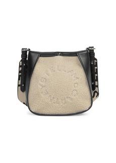 Stella McCartney Mini Stella Logo Faux Fur Shoulder Bag