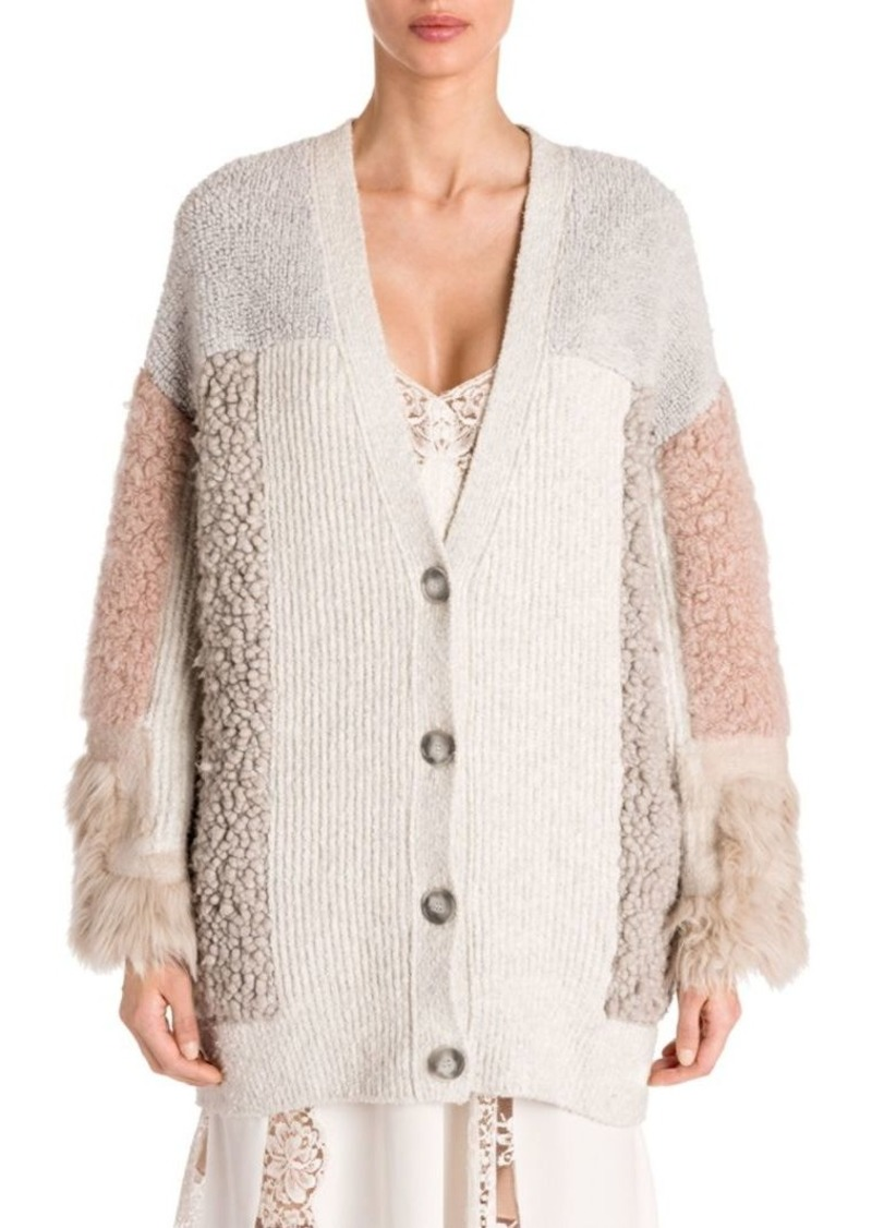 c261f5812330 Stella McCartney Mix Media Oversized Cardigan