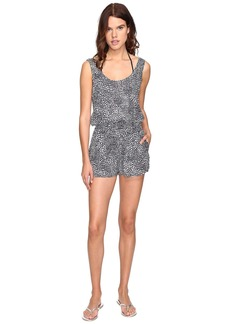 Stella McCartney Mixed Animal and Elastic All-In-One Romper Cover-Up